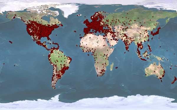 Botnet - aktywność na świecie