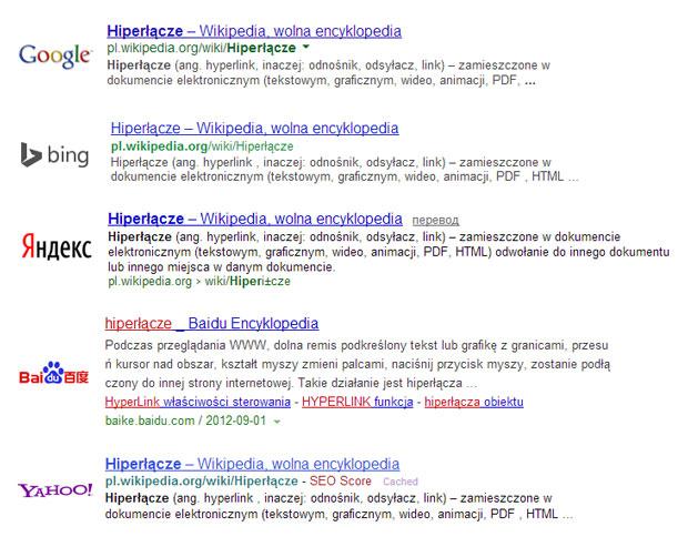 Podstawowy wyglad linku w wyszukiwarkach