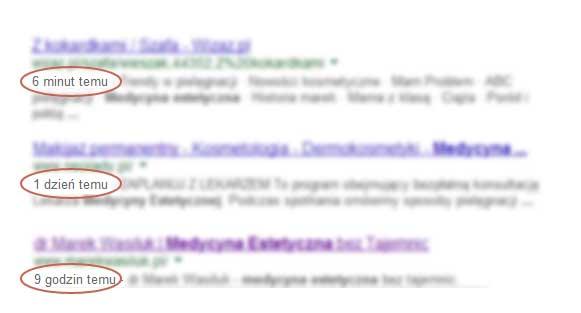 Różnice w czasie między indeksowaniem stron przez Google Datacenter